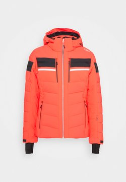 CMP - WOMAN JACKET ZIP HOOD - Kurtka narciarska - red fluo