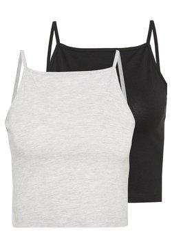 Even&Odd - Top - mottled grey/black