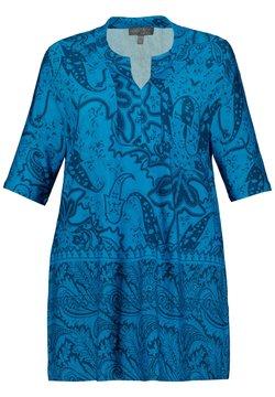 Ulla Popken - T-Shirt print - bleu foncé