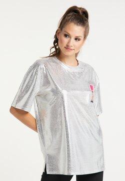 myMo at night - T-Shirt print - silber