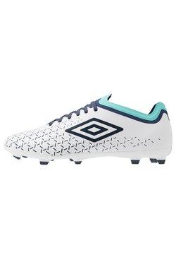 Umbro - VELOCITA V PREMIER FG - Moulded stud football boots - white/medieval blue/blue radiance