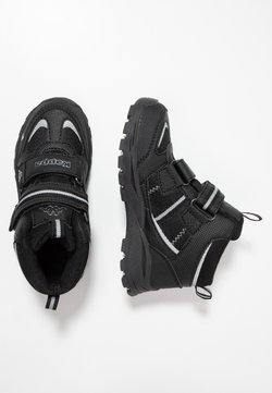 Kappa - HOVET TEX UNISEX - Obuwie hikingowe - black/silver