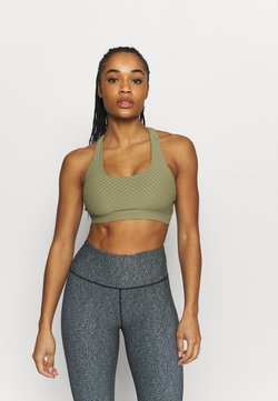 Cotton On Body - WORKOUT CUT OUT CROP - Sport-BH mit leichter Stützkraft - oregano