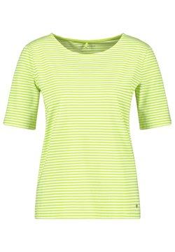 Gerry Weber - T-Shirt print - ecru/weiss/grün ringel