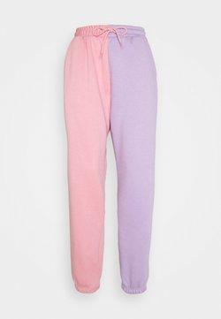 Missguided - COLOUR BLOCK JOGGERS - Jogginghose - pink