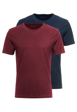 Pier One - 2 PACK - Basic T-shirt - bordeaux