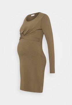 MAMALICIOUS - MLHELIA JUNE DRESS - Sukienka z dżerseju - stone gray