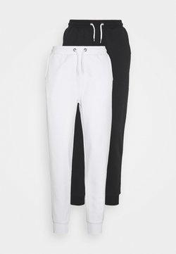 Even&Odd Petite - 2 PACK  - Jogginghose - white/black
