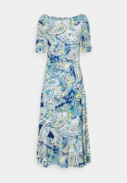 Lauren Ralph Lauren - MUNZIE ELBOW SLEEVE CASUAL DRESS - Jerseykleid - blue multi