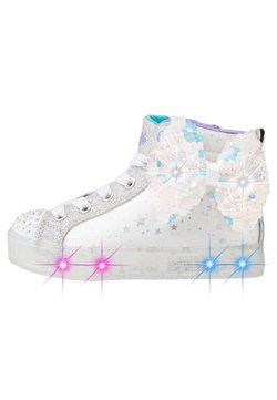 Skechers - SHUFFLE BRIGHTS - Sneaker high - white/silver/lavender