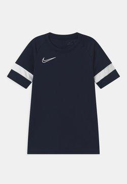 Nike Performance - UNISEX - T-Shirt print - obsidian/white