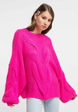 myMo - Strickpullover - neon pink
