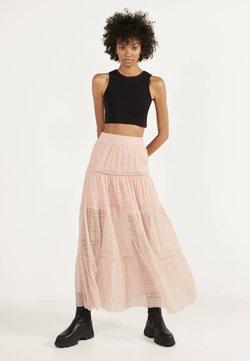 Bershka - Długa spódnica - pink