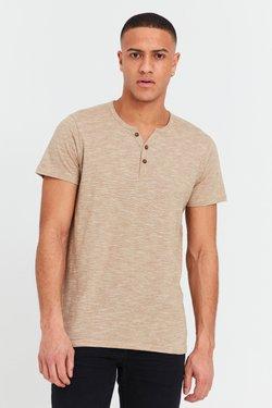 Solid - RUNDHALSSHIRT SIGOS - T-Shirt basic - sand