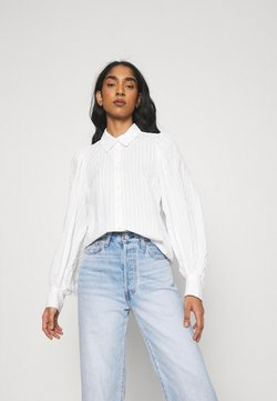 Monki - PHRIDA BLOUSE - Skjorte - white solid