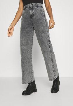 River Island - SLIM WIDE LEG BURT - Jeans baggy - grey