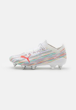 Puma - ULTRA 1.2 MXSG - Screw-in stud football boots - white/red blast/silver