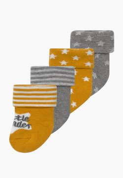 Ewers - NEWBORN 4 PACK - Socks - honig/grau