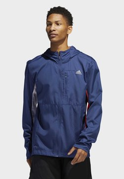 adidas Performance - OWN THE RUN HOODED WINDBREAKER - Windbreaker - tech indigo