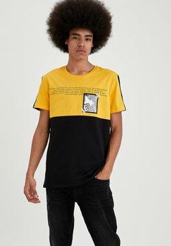 DeFacto - Camiseta estampada - yellow