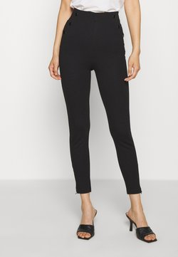 Guess - ULTRA CURVE HIGH BUTTON - Trousers - jet black
