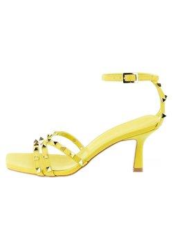 PRIMA MODA - Korolliset sandaalit - żółty