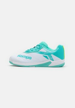 Kempa - WING 2.0 JUNIOR UNISEX - Håndboldsko - white/turquoise