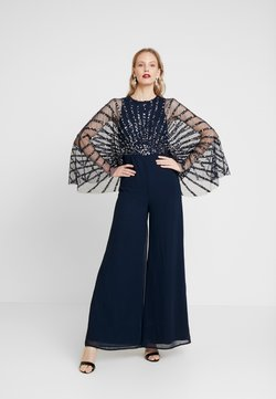 Maya Deluxe - STRIPE EMBELLISHED WITH CAPE SLEEVES - Combinaison - navy