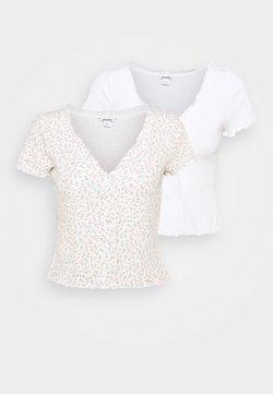 Monki - SONJA 2 PACK - T-Shirt print - off white