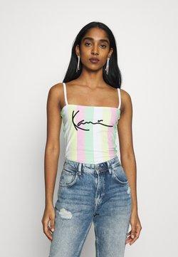 Karl Kani - SIGNATURE STRIPE - Top - green/white/pink/yellow