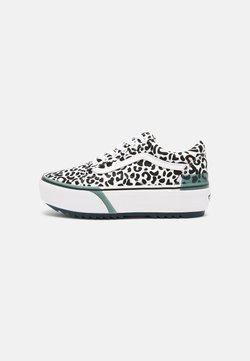 Vans - OLD SKOOL STACKED - Sneaker low - leopard/true white