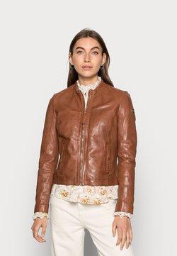 Gipsy - ZAI LASTAV - Leather jacket - cognac