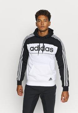 adidas Performance - Kapuzenpullover - black/white