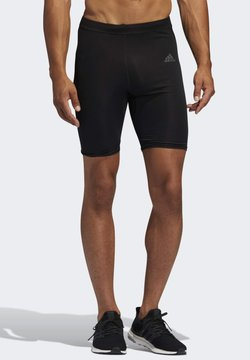 adidas Performance - OWN THE RUN SHORT TIGHTS - Pantalón corto de deporte - black