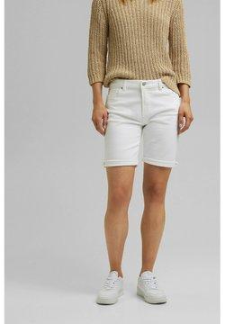 Esprit - Jeansshorts - white