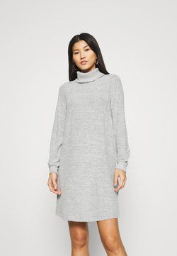 GAP - TURTLENECK DRESS - Neulemekko - light grey marle