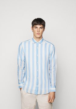 Frescobol Carioca - LINEN STRIPED SHIRT - Hemd - light blue/white