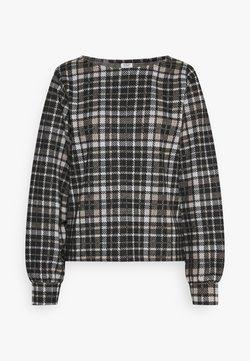 JDY - JDYCALLE - Langarmshirt - black/silver mink/white