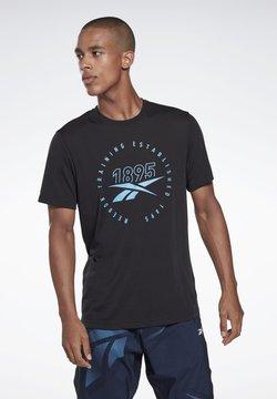 Reebok - TRAINING SPEEDWICK TEE - T-Shirt print - black/black