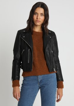 AllSaints - ESTELLA BIKER - Leather jacket - black