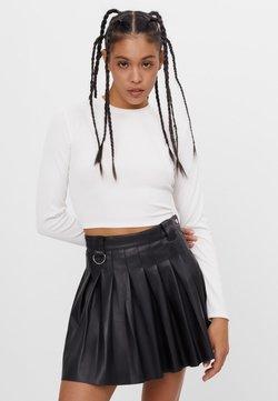 Bershka - MIT KELLERFALTEN - Jupe plissée - black
