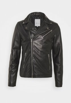 Goosecraft - VICK BIKER - Leren jas - black