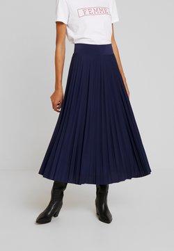 Anna Field - Plisse A-line midi skirt - Gonna a campana - maritime blue