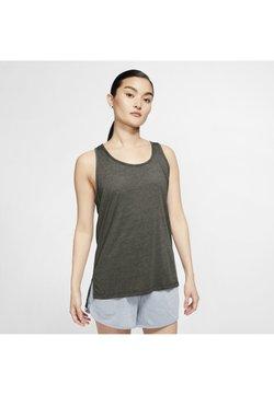 Nike Performance - YOGA LAYER TANK - Funktionsshirt - cargo khaki/heather/mystic stone/medium olive
