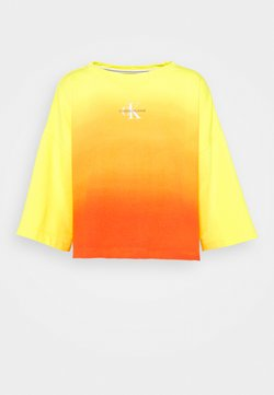 Calvin Klein Jeans - LOOSE BOAT NECK  - Sweatshirt - yellow