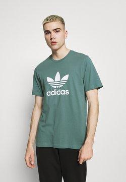 adidas Originals - TREFOIL UNISEX - Printtipaita - hazy emerald/white