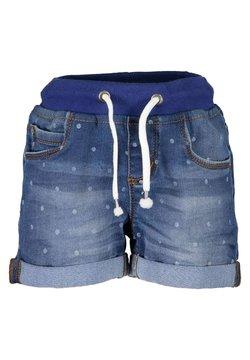 Blue Seven - LIFE IS FLOWERFUL - Jeansshort - jeansblau aop