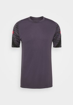 Nike Performance - DRY STRIKE 21 - T-Shirt print - dark raisin/black/siren red