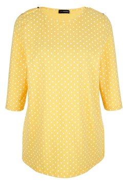 MIAMODA - Langarmshirt - gelb,weiß