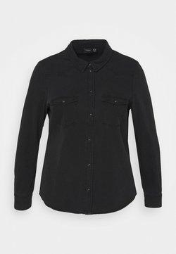 Vero Moda Curve - VMMARIA SLIM - Hemdbluse - black